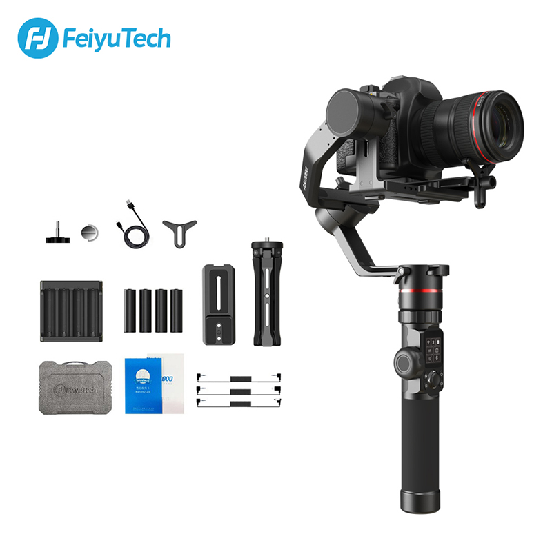 Feiyutech ak2000 dslr câmera estabilizador cardan handheld com anel de foco para sony canon 5d panasonic gh5 nikon 5d 2.8 kg carga útil