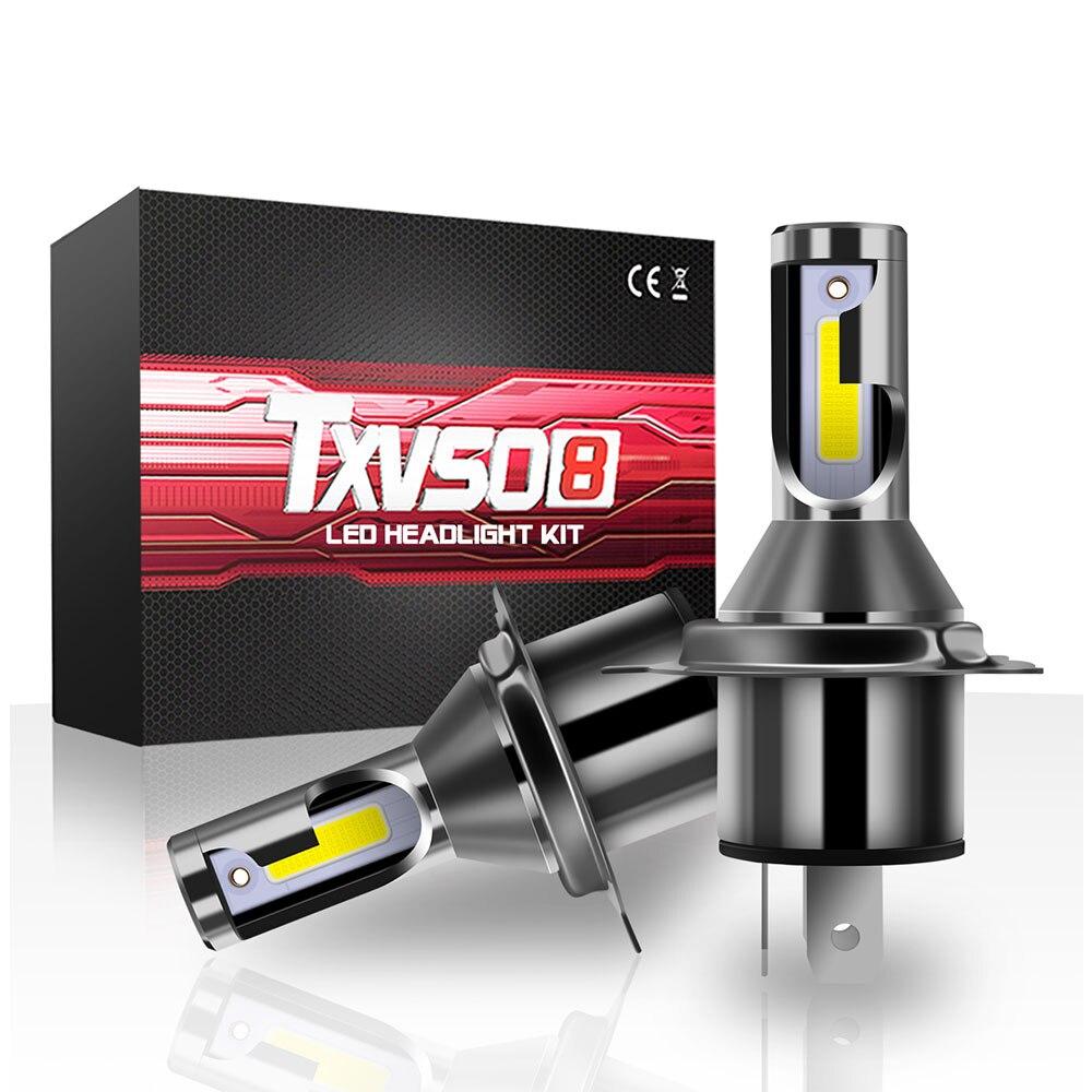 2 шт. H4 светодиодный Автомобильные фары H 4 HB2 9003 Hi/короче спереди и длиннее сзади) для автомобилей и мотоциклов лампы для передних фар лампа бе...