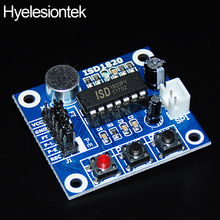Recording Module ISD1820 For Arduino DIY Kit Voice Module Board Panel Telephone Playback Recorder Mic Sound Audio Microphone admp401 mems microphone breakout module board for arduino universal 1 3cm 1cm