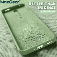 Original Teléfono de silicona líquida de los casos para Oneplus 6T 5T 8 T 5T 8 T cubierta de lujo uno más 7 Pro Oneplus8 7Pro 7T protección
