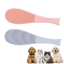Pet Hair Massage Brush Fish-shaped Soft Cat Dog Cleaning Tongue Comb for Everyday Brushing Cats Brush Comb Deshedding Hair pet hair deshedding dog cat brush comb sticky hair gloves hair fur cleaning for sofa bed clothe pets dogs cats cleaning tools