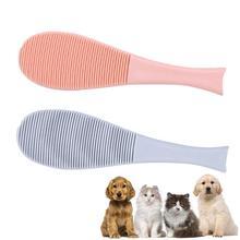 Pet Hair Massage Brush Fish-shaped Soft Cat Dog Cleaning Tongue Comb for Everyday Brushing Cats Brush Comb Deshedding Hair цена 2017