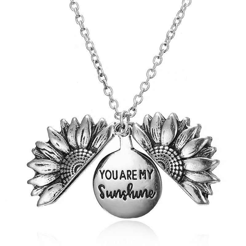 สร้อยคอคู่แฟชั่น Sunflower จี้ของฉัน Sunshine Gold เงิน Clavicle Chain ผู้หญิงเครื่องประดับ Charm ของขวัญ