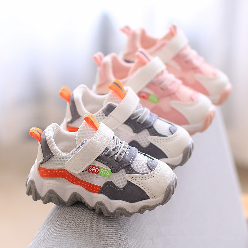 2020 New Fashion Mesh Baby Sneakers Soft Sole Infant Toddler First Walkers Baby Girls Shoes Little Boys Casual Shoes