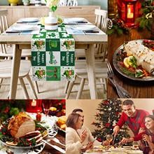 Dzień świętego patryka wydrukowany stół do jadalni na rodzinne przyjęcia świąteczne wystrój na rodzinne przyjęcia świąteczne tanie tanio CN (pochodzenie) Tkanina Drop shipping
