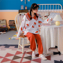 Осенне зимние женские пижамы с длинными рукавами брюки кардиган