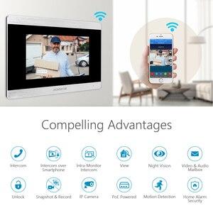 "Image 3 - HOMSECUR 7 ""WiFi IP Wired וידאו דלת כניסת אבטחת אינטרקום 1.0MP עם זיכרון צג עבור אבטחה בבית"