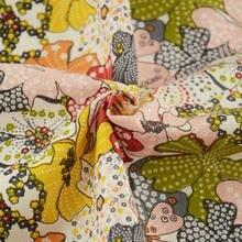 Africano ancara tecido impresso colorido floral algodão tecido de costura têxtil medidor costura tecidos de retalhos algodon