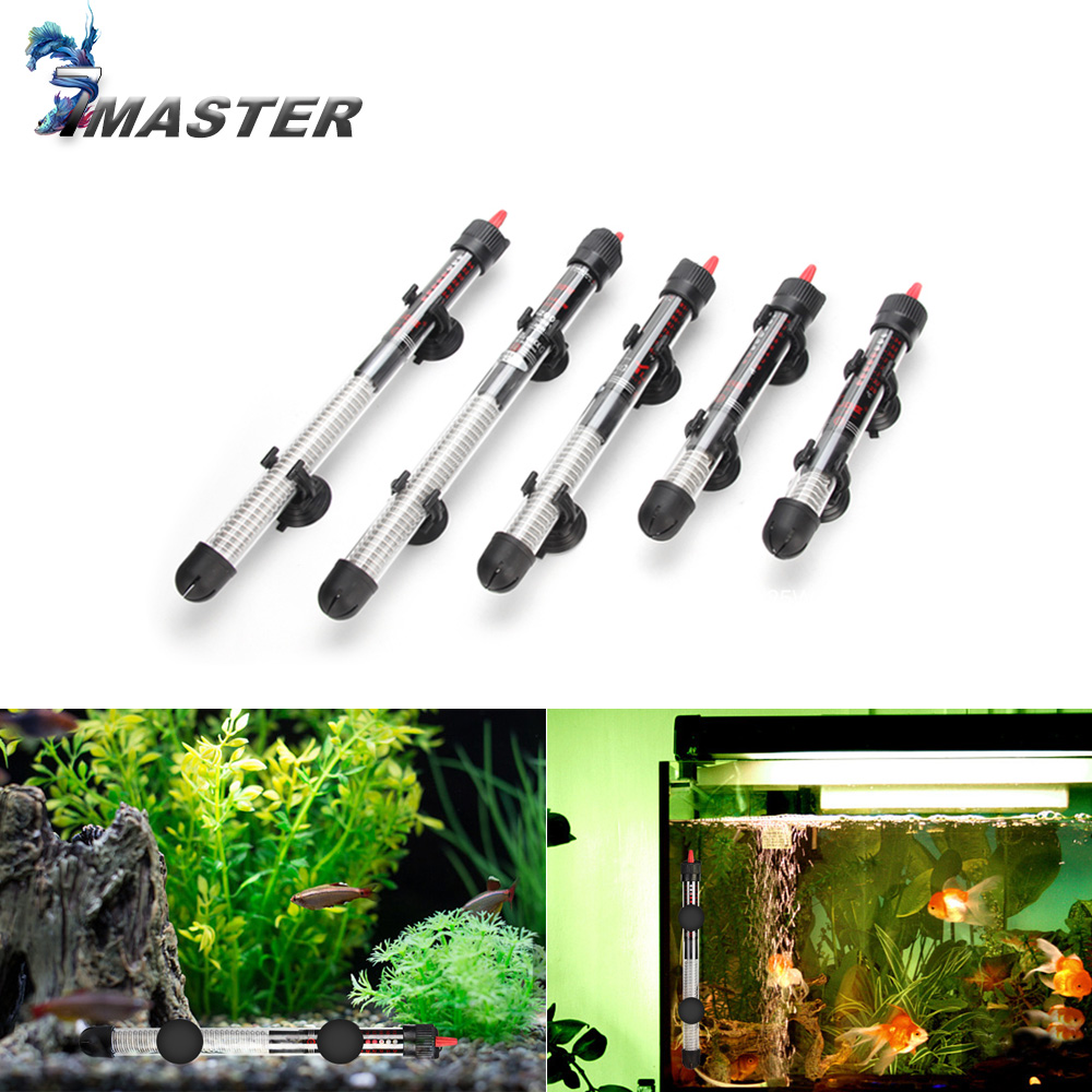 110v-220v YUGE Adjustable Temperature Thermostat Heater Rod 25W/ 50W/ 100W/ 200W/ 300W Submersible Aquarium Fish Tank Water Heat