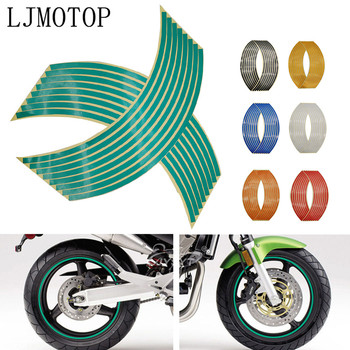 Motorcycle Wheel Sticker Motocross Reflective Decals Rim Tape Strip For Honda Black SpiRit PCX 125 150 CBR600F cb400 Hornet 250 image