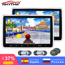 цена на 2x 10.1 Inch Car DVD Headrest Monitor Video Player 1024x600 HD Digital Screen Touch Button Game Remote Control USB/SD/HDMI/IR/FM