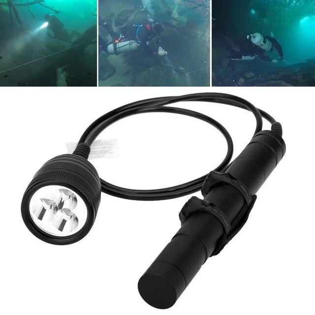 Brinyte DIV10 Tauchen Taschenlampe High Power 150m 3000lm 3x XM L2 LED mit 2M Draht Länge für Professionelle dive