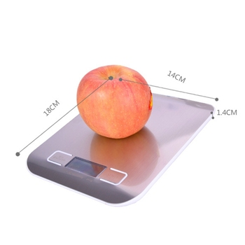 Stainless Steel Digital USB Kitchen Scale 10Kg / Electronic Precision Post Food Scale for Cooking Baking Measuring Tools