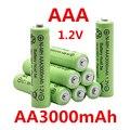 AAA 3000 мАч 1,2 в качественная перезаряжаемая батарея AAA 3000 мАч Ni-MH перезаряжаемая батарея 1,2 в 2A