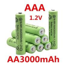 Aaa 3000 mah 1.2 v bateria recarregável da qualidade aaa 3000 mah ni-mh bateria recarregável 1.2 v 2a