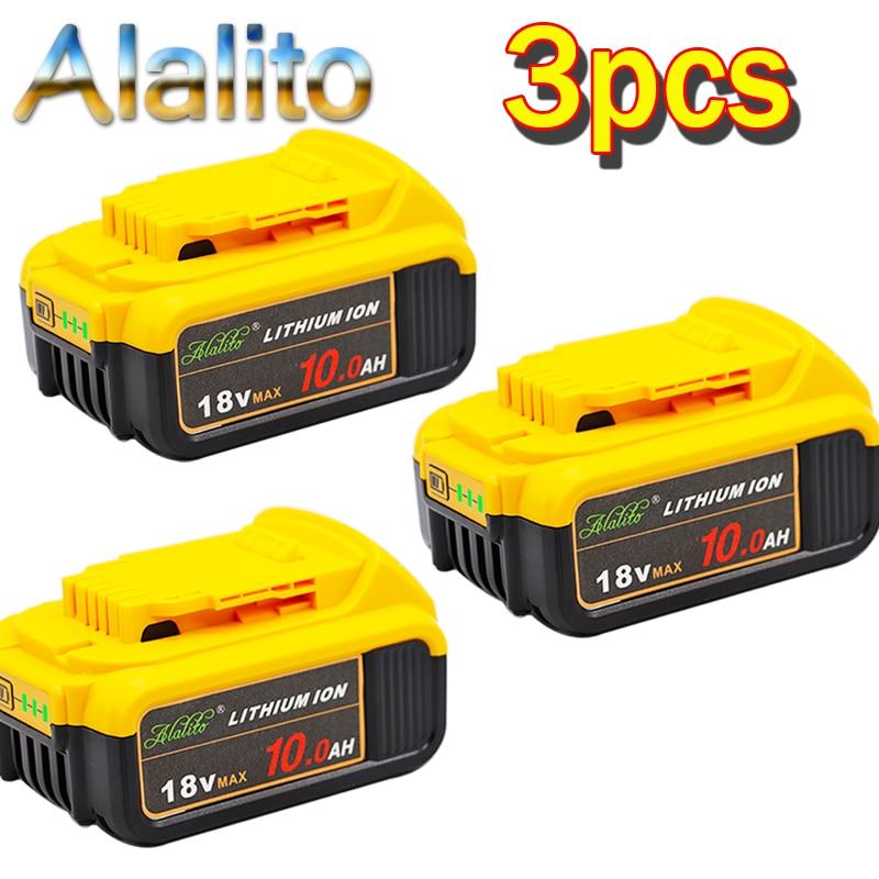 Сменный литий-ионный аккумулятор для электроинструмента DeWalt MAX XR, 18 в, 10000 мАч, 3 шт.