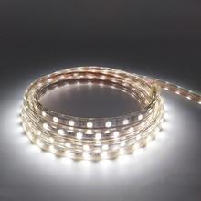 Tiras led impermeables de 220V, 240V, SMD 5050, tira de iluminación led flexible, 5m, 10m, 15m, 20m, 25m, enchufe de alimentación blanco cálido/Blanco/azul, 60led/m