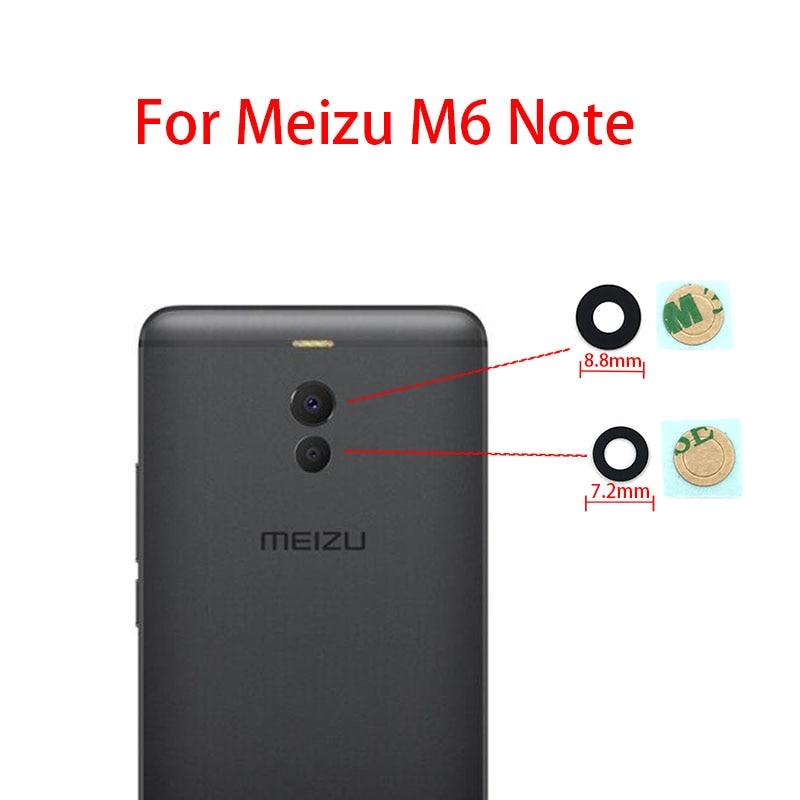 Glass Lens For MEIZU M5 M6 NOTE 5.5 M5s M6 6S 16th M6T Note 8 V8 Rear Camera Lens Back Camera Glass Lens With Adhesive Sticker