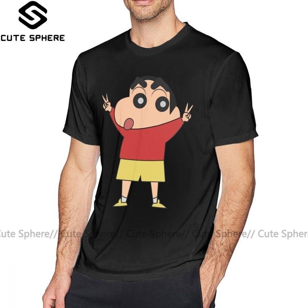 Shin Chan T Shirt Shin Chan For President T-Shirt Short-Sleeve Oversize Tee Shirt Cotton Cute Casual Print Man Tshirt