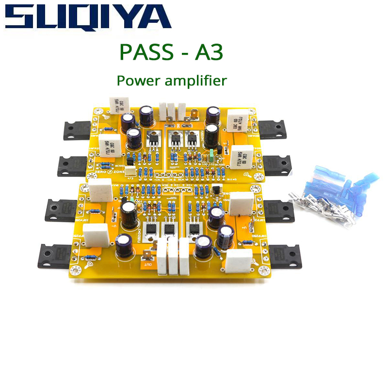 SUQIYA-PASS A3 Single-Ended Class A Power Amplifier Kit Finished Board 30W+30W Supports balanced and unbalanced inputs image