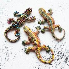 Autocollant 3D pour réfrigérateur, motif lézard Gecko commémoratif, pour le tourisme espagnol et la république démocratique, pour la décoration de la maison