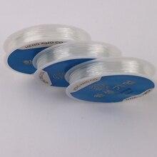 0,5-1,0 мм прозрачная эластичная Хрустальная линия, веревка для бисероплетения, веревка, шнур для ювелирных изделий, нить, нить для рукоделия, ш...