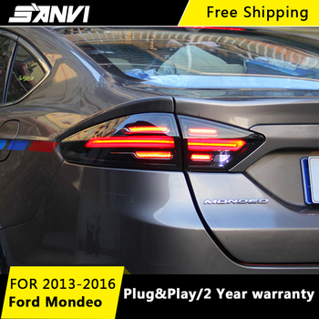 SANVI 2PCS  Full LED Tail Light Assembly for Ford Mondeo 2013-2016 With LED Turn Light LED Reversing Light Car Styling