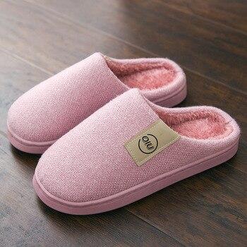 Fashion Women Slippers Winter Warm Fur Slippers Men Women Boys Girls House Shoes Flat Heel Home Indoor Bedroom Zapatilla Mujer 4