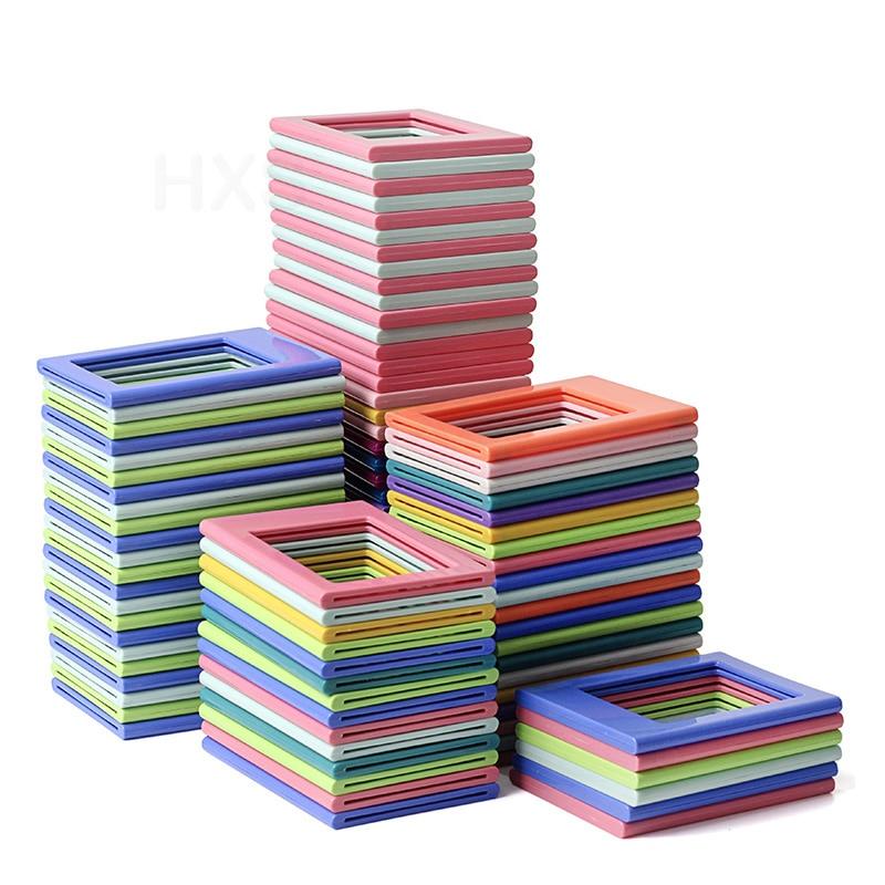 Fujifilm Instax Mini Film Photo Frame, Colorido Dupla Face Magnética Frigorífico Quadro de Imagem, ímãs Crianças das Obras de Arte Quadros,