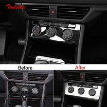 Tonlinker Innen Auto Air Control Panel Abdeckung Aufkleber für Volkswagen Jetta MK7 2019 20 Auto Styling 1 PCS Metall abdeckung Aufkleber