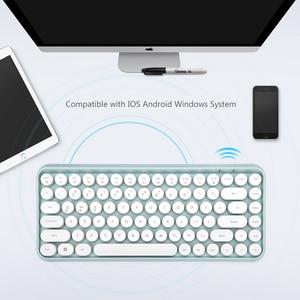 Image 2 - Wireless Bluetooth Keyboard Mini Round Button Gaming Keyboard For Macbook PC Gamer Laptop iPad Tablet Computer Andorid Keyboard