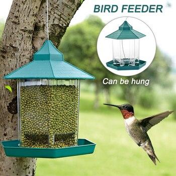 Alimentador de aves al aire libre