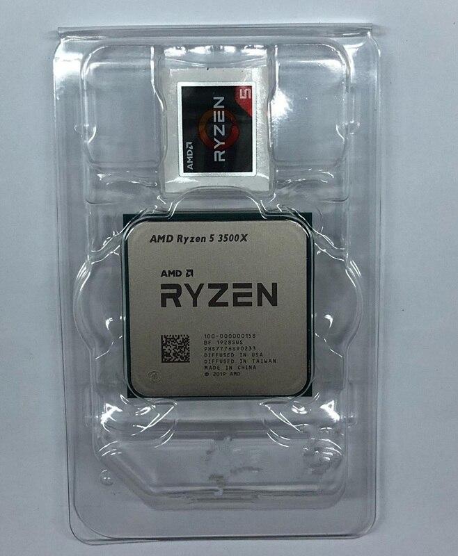 AMD Ryzen 5 3500X R5 3500X 3.6 GHz Six-Core Six-Thread CPU Processor 7NM 65W L3=32M 100-000000158 Socket AM4 No Fan