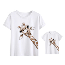 Daughter T-Shirts Look-Outfits Clothes Family Giraffe And Son Ropa Mujer