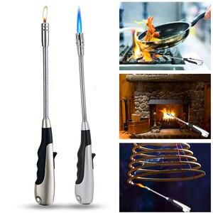Mechero antorcha Jet encendedores 360 grados ajustable llama encendedores para cocina chimenea para barbacoa MJJ88