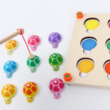 цена на Montessori Fishing Toy Turtle Memory Game Chess Children Early Education Benefit Intelligence Development Toy Safe Material