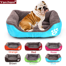 Dogs Soft Bed Pet House S-XL Waterproof Bottom Fleece Warm Cat Sofa for Small Medium Large Supplies Cats