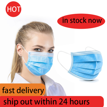 3 Layer Medical Masks Professional Disposable Mask Surgical 3-Ply Nonwoven Filter Meltblown Cloth Elastic Earloop Face Masks