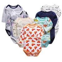 100% baumwolle neugeborenen body baby babys bebes kleidung lange sleeveprinting infant kleidung 0-24 Monate