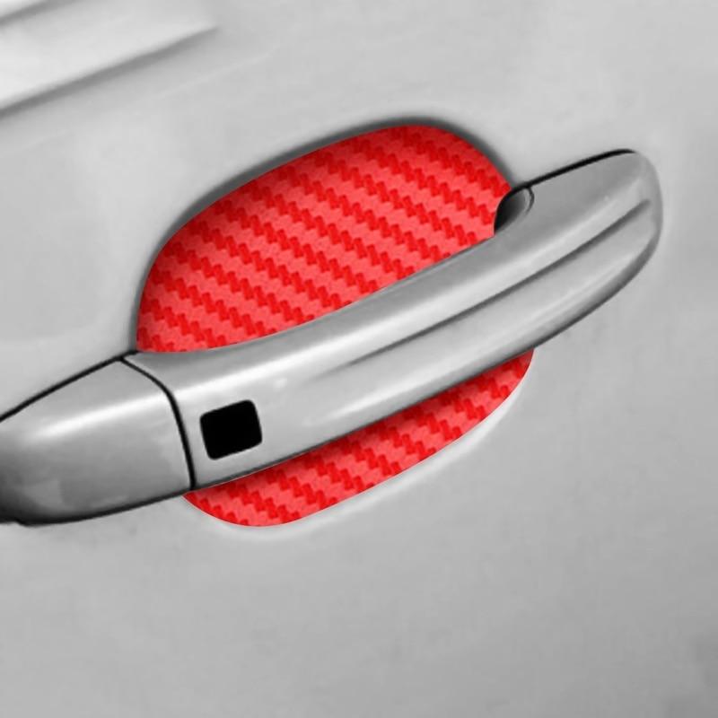 4 pièces autocollants de voiture protéger poignées de porte autocollant de porte de voiture résistant aux rayures couverture Auto poignée Film de Protection
