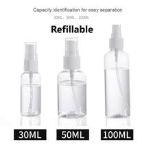 30ml/50ml/100ml Refillable Mini Perfume Spray Bottle plastic Alcohol Atomizer Portable Travel Cosmetic Container Perfume Bottle(China)