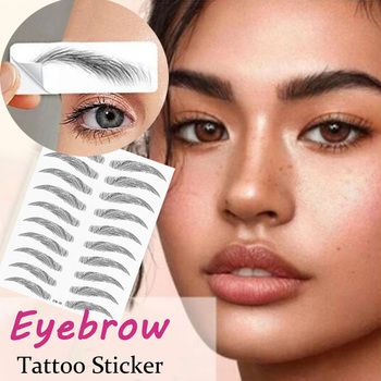Magic False Eyebrows 4D Hair-like Eyebrow Tattoo Sticker Waterproof Lasting Makeup Water-based Eye Brow Stickers Cosmetics
