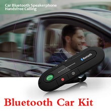 Bluetooth Handsfree Car Kit Wireless Bluetooth Speaker Phone MP3 Music Player Sun Visor Clip Speakerphone with Car Charger dfdf siparnuo aux bluetooth speakerphone car kit handsfree bluetooth auto carkit wireless sun visor car speaker