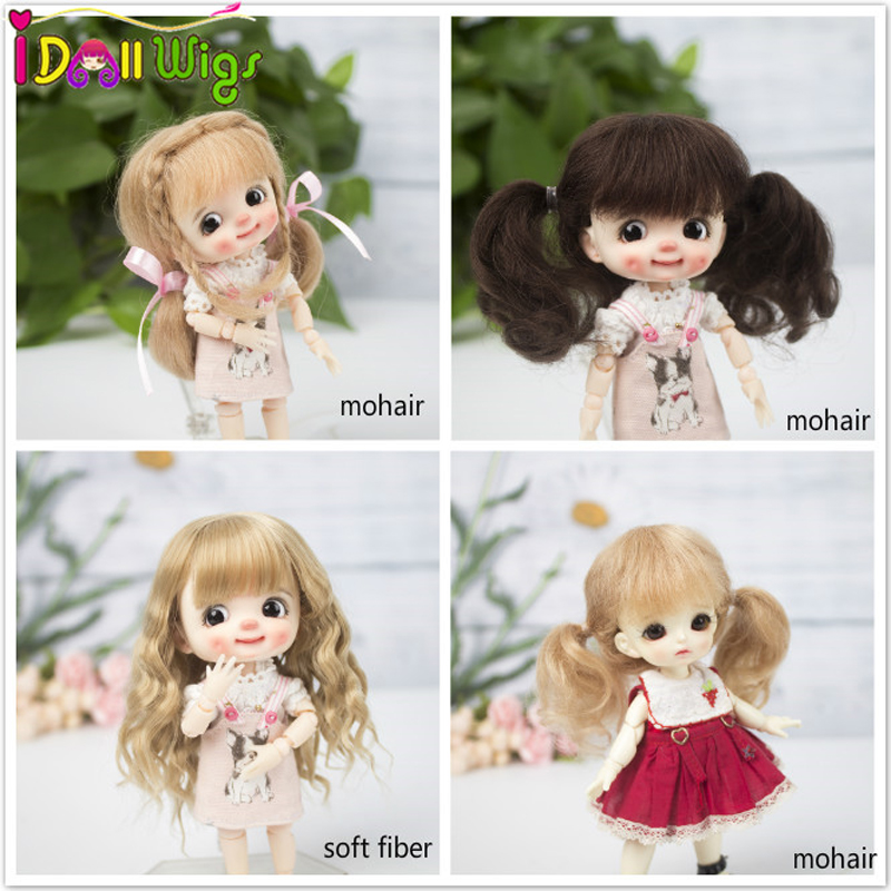 High quality Muziwig <font><b>1/8</b></font> <font><b>BJD</b></font>&Kurhn <font><b>doll</b></font> <font><b>wig</b></font> soft fiber Bob Hair for 14-15cm diameter <font><b>doll</b></font> image