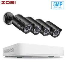 ZOSI 5MP AHD CVI CVBS TVI H.265 CCTV gözetim güvenlik kamera sistemi 8CH Video gece görüş DVR kiti uzaktan görünümü telefon
