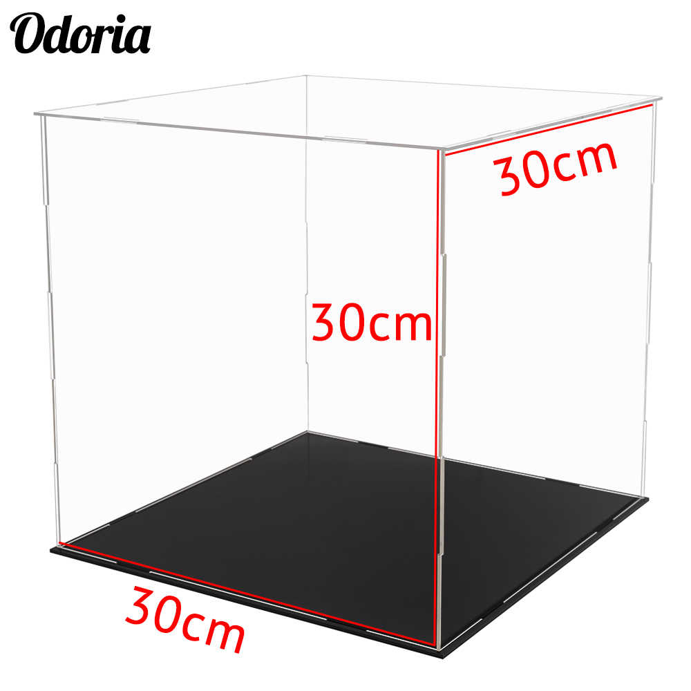 Odoria 30cm Acrylic Display Case Self-Assembly Clear Cube Box UV Dustproof For Basketball Action Figures Ships From US AU ES EU