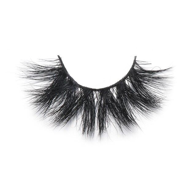 1 Pair 20mm 3D 100% Mink False Eyelashes Luxury Criss-cross Mink Lashes Fake Eyelash Handmade Dramatic Eyelashes Makeup Tools 2