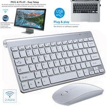 Ультратонкая беспроводная клавиатура и мышь 24 ГГц комбинированный