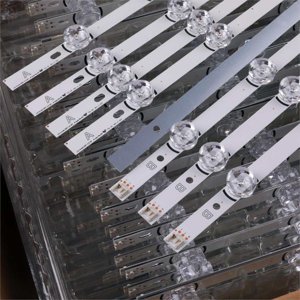 8 PCS(4*A+4*B)LED Strip Bar Replacement For LG 39 Inch TV 39LB5610 39LB561V 390HVJ01 Innotek DRT 3.0 39 Inch A B Type