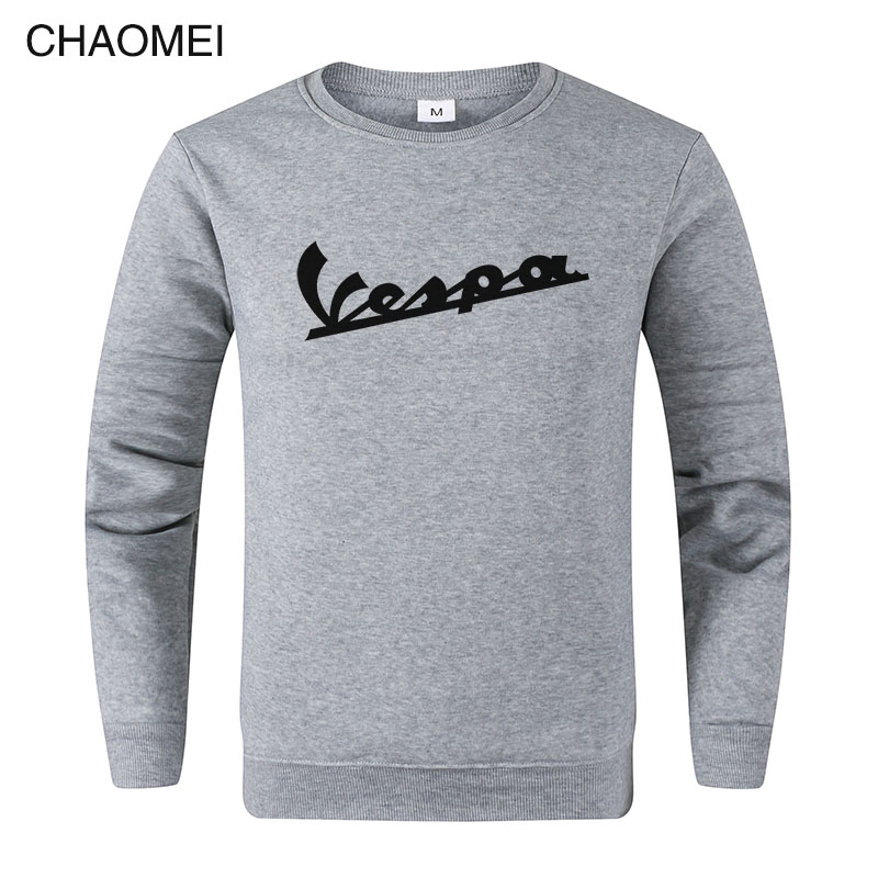 2019 Spring New Men Sweatshirt Clothing Vespa Hoodies Sweatshirts Motorcycle Casual Winter Jackets Pullover C108